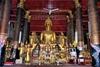 Gilded Buddha at Altar at Wat Mai in Luang Prabang