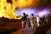 Visit cave in Halong Bay