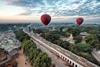 Riding balloon in bagan