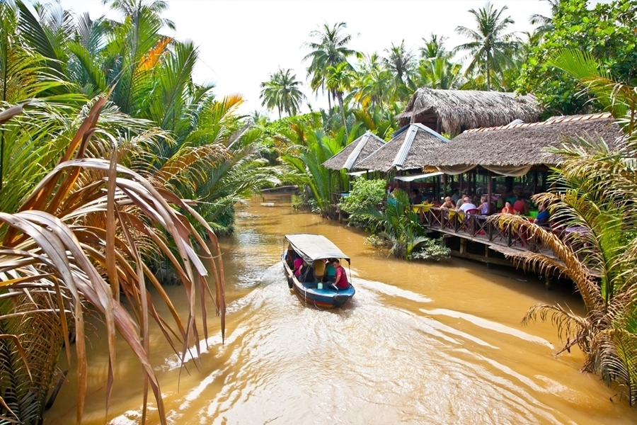 Small canals in Mekong Delta