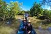 Sampan boat trip in Mekong Delta