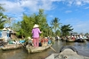 Daily life of local people in Mekong Delta