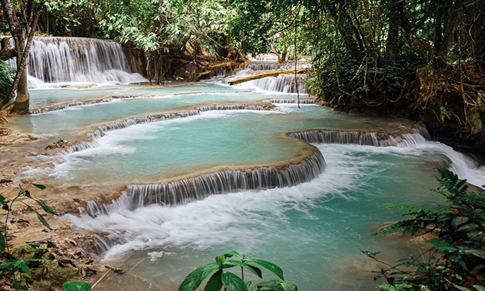 Picture of Kuang Si Waterfall, Laos - The Most Amazing Waterfall
